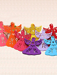 5pcs Colorful Christmas Tree Decoration Home Outdoor Angel Pendant Ornaments Party Supplies Random