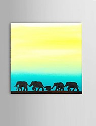 Hand-Painted Africa Elephant Oil Painting Southeast Asian style Wall Art Restaurant Decor With Frame Ready To Hang