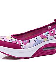 Damen-Sneaker-Outddor Büro Lässig-Kunststoff-Flacher AbsatzBlau Rosa Koralle