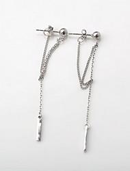 Boucle Forme de Ligne Bijoux 1 paire Mode Quotidien / Décontracté Argent sterling Femme Argent