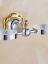 Bathroom Accessories, Mirror Polished Finishing Solid Brass Material Toothbrush Holder