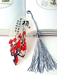 Magnolia Vein Bookmark China Wind Bookmark Keepsake Tokens Gift For Couple (Random Color)