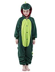 Kigurumi Pyjamas New Cosplay® Dinosaurier Gymnastikanzug/Einteiler Fest/Feiertage Tiernachtwäsche Halloween Grün Patchwork Polar-Fleece