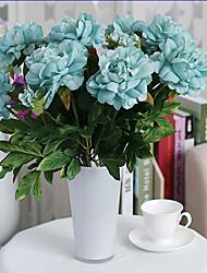 1 Une succursale Polyester Plastique Pivoines Fleur de Table Fleurs artificielles 50(19.6'')