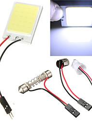 2ST Auto cob 24 Chip-LED Auto Innenbeleuchtung t10 cob 12v Panel Licht Auto Standlicht Girlande (12 V DC)