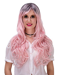 Pink gradient long curly hair wig.WIG LOLITA, Halloween Wig, color wig, fashion wig, natural wig, COSPLAY wig.