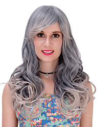 The grey gradient long curly hair wig.WIG LOLITA, Halloween Wig, color wig, fashion wig, natural wig, COSPLAY wig.