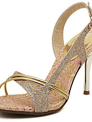 Women's Sandals Spring/Summer/Fall Heels Glitter Party & Evening /Dress/ Casual Stiletto Heel Sparkling Glitter Gold