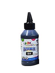 pour l'encre d'imprimante epson un pack est inclus deux encres de couleurs qui sont l'encre rouge clair et noir un chacun est 100ml