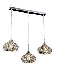 MAX40W Chandelier ,  Modern/Contemporary Chrome Feature for Crystal / Mini Style / Designers MetalLiving Room / Bedroom