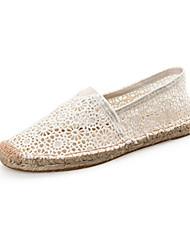 Damen-Loafers & Slip-Ons-LässigFlacher Absatz-Espadrillas-Schwarz Rot Weiß
