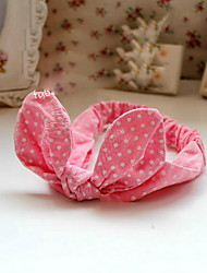 Korean Flower Girl's Fabric Rabbit Ears Headbands