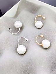 Boucle Forme de Cercle Bijoux 1 paire Mode Quotidien / Décontracté Perle / Alliage Femme Doré