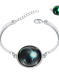 Lureme® New Magical Glow in The Dark 925 Sterling Silver Luminous Constellation Bracelets