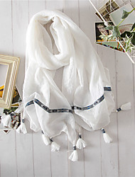 Women Cotton Scarf,Vintage / Casual RectangleSolid