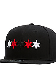 Hip Hop Street Dance Men Women Colorful Stars Embroidery Baseball Caps