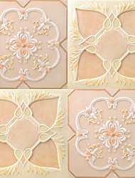 JAMMORY Art DecoWallpaper For Home Wall Covering Canvas Adhesive required Mural Pink Imitation Tile3XL(14'7''*9'2'')