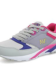 361 35-40 Sneakers Dames Dempen / Opvulling / Ademend Low-Top Beginner / Recreatie Sporten Grijs Hardlopen Veters Ademend Gaas Rubber
