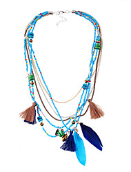 Necklace Statement Necklaces Jewelry Black / Blue / Green Alloy Wedding / Party 1pc Gift