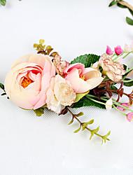 Women's Resin Headpiece-Wedding Wreaths 1 Piece Champagne