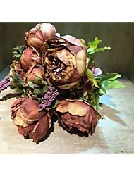 Polyester Décorations de Mariage-1piece / Set Fleur Artificielle Mariage Conte de Fée Rose / Rose Perle / Violet / CaféPrintemps / Eté /