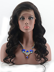 Full Lace Human Hair Wigs Brazilian Body Wave Full Lace Wig With Baby Hair Bleach Knot Natural Black Hair Color Wigs