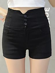 Damen Hose - Einfach Kurze Hose Baumwolle Unelastisch