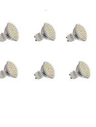 5W GU10 Точечное LED освещение Утапливаемое крепление 60 SMD 3528 300LM lm Тёплый белый / Холодный белый Декоративная AC 220-240 / DC 12 V