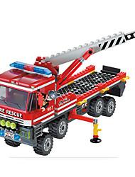 Внедорожный кран корабль город пожара серии здание головоломки блок игрушки