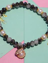 Bracelet Bracelets de rive Cristal Forme de Cercle Mode Quotidien / Décontracté Bijoux Cadeau Noir et Blanc,1pc