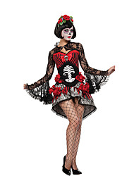 Costumi Cosplay / Vestito da Serata Elegante Mago/Strega / Costumi da zombie / Costumi da vampiro Feste/vacanze Costumi Halloween NeroDi