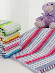 "1PC Full Cotton Wash Towel 13"" by 13"" Stripe Pattern Super Soft"