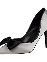 Damen-High Heels-Kleid-Kunstleder-Stöckelabsatz-Absätze / Spitzschuh / Geschlossene Zehe-Schwarz / Lila / Rot / Grau / Leopardenmuster