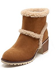 Women's Boots Fall / Winter Fashion Boots  Casual Chunky Heel Fur Black / Yellow / Beige Others