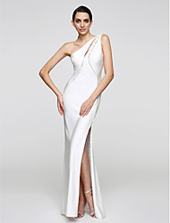 2017 TS Couture® Formal Evening Dress Trumpet / Mermaid One Shoulder Floor-length Jersey with Buttons