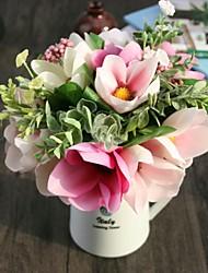 Hi-Q 1Pc Decorative Flowers Hold Flower  Magnolia  Flower Wedding Home Table Decoration Artificial Flowers