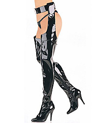 Women's Boots Spring / Fall/Winter Motorcycle Boots Patent Leather Party & Evening Stiletto Heel Black / Red