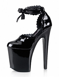 20CM sexy/Women's Shoes Patent Leather/  Heels Wedding/Outdoor/Party & Evening Stiletto /Crystal shoes/Nightclub stage