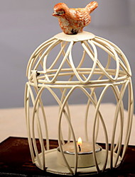 Fashion Bird Metal Modern/Contemporary Round Candleholder Decorate Decoration Wedding Daily