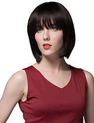 Sweet Custom Short Straight Bob Hairstyle Human Hair Wigs