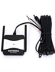 DC 12V Black Outdoor Booster FM Radio TV Antenna for Automobile Car