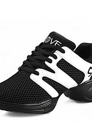 Chaussures de danse(Noir / Rouge) -Non Personnalisables-Talon Bas-Synthétique-Moderne