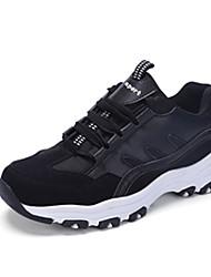Damen-Sneaker-Outddor-Tüll PU-Flacher AbsatzSchwarz Weiß