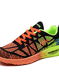 Men's Shoes Athletic Fabric Fashion Sneakers Orange / Blue / White