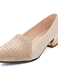 Women's Shoes PU Summer / Pointed Toe Heels Office & Career / Casual Chunky Heel Sparkling Glitter Black / Beige