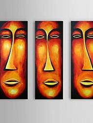 Hand-Painted Abstract Character Face Close-up Oil Painting on Canvas Africa Wall Art  Home Deco Ready to Hang