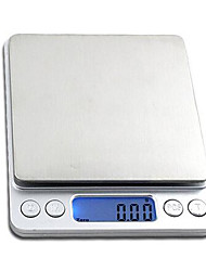 bleu affichage à cristaux liquides rétro-éclairage échelle de mesure électronique portable (2000g-0.1g, 500g-0.01g)