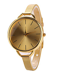 Gold Case Stainless Steel Band Wrist Fashion Dress Watch Jewelry Cool Watches Unique Watches