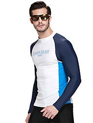 Men Long Sleeve Swimwear Swim Surf Rash Guard Shirts Diving Snorkeling Top Wetsuit