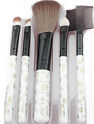 5 Makeup Brushes Set Synthetic Hair Portable Plastic Face Others